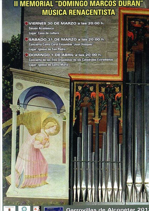 II MEMORIAL DOMINGO MARCOS DURÁN: Música renacentista
