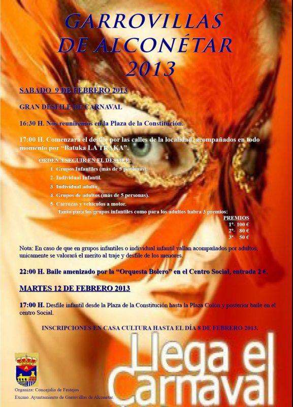 Carnavalis Garrovillas de Alconétar 2013