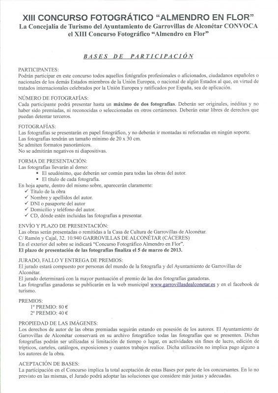 """XIII CONCURSO FOTOGRÁTICO """"ALMENDRO EN FLOR"""""""