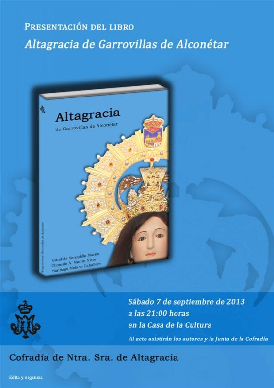 Presentación del libro Altagracia de Garrovillas