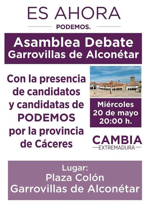 Asamblea debate de PODEMOS en la Plaza Colon