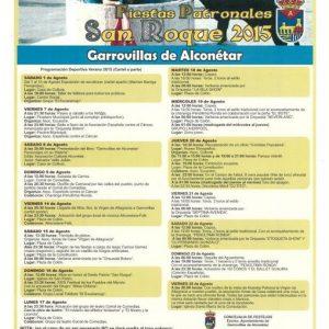 2015 Programa de festejos San Roque