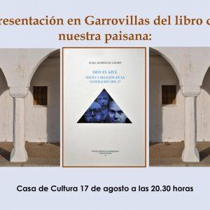 """Presentación del libro de Nuria Rodriguez Lázaro """"Dios es azul"""""""