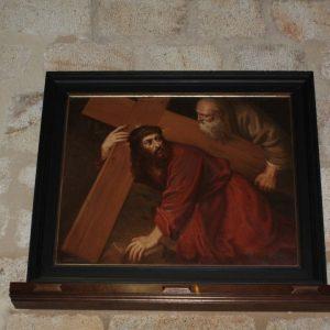 """Nuevo cuadro en la Iglesia de Santa Maria """"Jesús y el Cirineo?"""