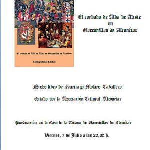 Presentación del Libro de Santiago Molano Caballero «El condado de Alba de Aliste en Garrovillas de Alconétar»