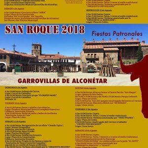 PROGRAMA DE FIESTAS SAN ROQUE 2018