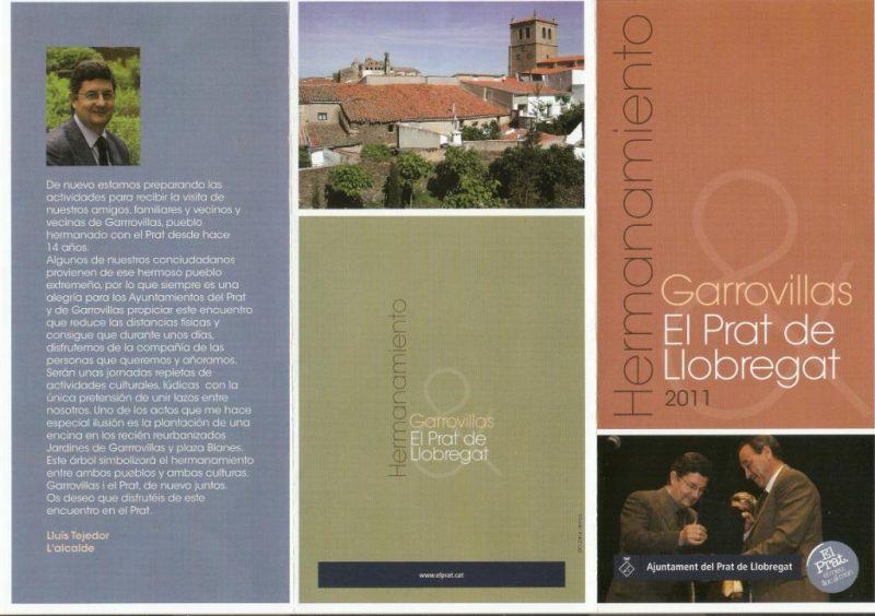 2011 Hermanamiento Prat de Llobregat - Garrovillas de Alconetar