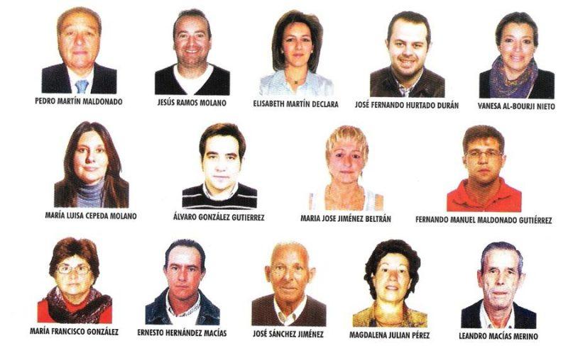 Presentación de la lista del PSOE para las elecciones municipales del 22 de Mayo